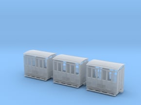 IJ's Nn3 Closed Passenger 10ft x 6ft 6in (3 off) in Smooth Fine Detail Plastic
