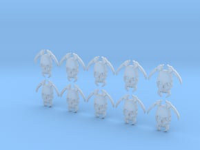 10 30mm Tall Skull Scythe Icons in Smooth Fine Detail Plastic