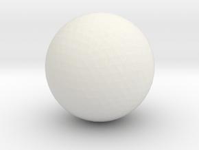 Cueball in White Natural Versatile Plastic