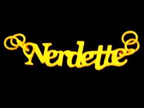 Nerdette Pendant in Yellow Processed Versatile Plastic