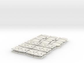 TA 4S avio parts 002 A1 12pcs in White Natural Versatile Plastic