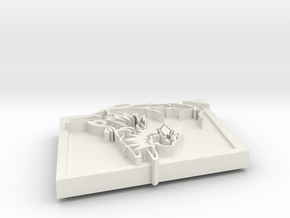 Jolteon Pendant in White Natural Versatile Plastic