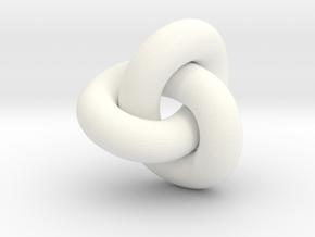 trefoil 7mm diam in White Processed Versatile Plastic
