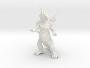 "Pyrosaurus - Solid core 3"" in White Natural Versatile Plastic"