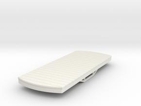 55n9 bogie flat car (short) in White Natural Versatile Plastic