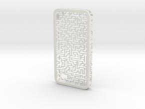 IPhone 4/4S - Maze Case in White Natural Versatile Plastic
