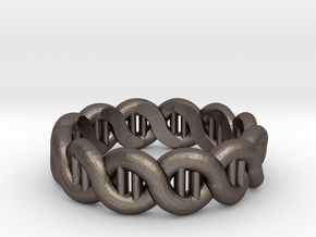 DNA sz17 in Polished Bronzed Silver Steel