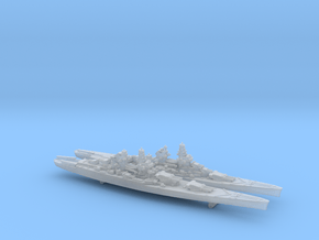 1/2400 MN BB Clemenceau+Gascogne in Smooth Fine Detail Plastic
