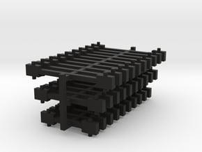 N Scale NEM fixed bar couplings (3.5, 5, 7mm) in Black Natural Versatile Plastic