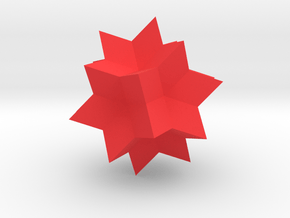 Wolfram Alpha Spikey in Red Processed Versatile Plastic: Small