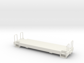 On30 21 ft caboose underframe in White Natural Versatile Plastic