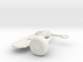 Door Handle in White Natural Versatile Plastic