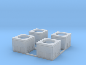 N-Scale Concrete Electrical Box (4 Pack) in Smooth Fine Detail Plastic
