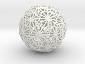 Flexible Sphere_d1 in White Natural Versatile Plastic