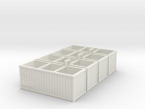 Container4x in White Natural Versatile Plastic