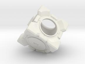 Companion Cube Picture Frame in White Natural Versatile Plastic