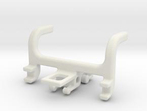 TPHangerSingle_120913 in White Natural Versatile Plastic