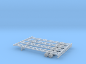 48 foot Container Chassis Set - Zscale in Smooth Fine Detail Plastic