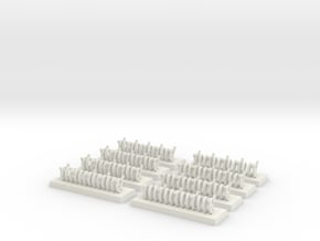 6mm Barbed Wire Obstacles (x8) in White Natural Versatile Plastic