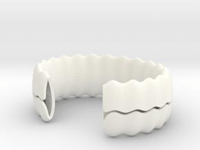 sea shell bracelet in White Processed Versatile Plastic