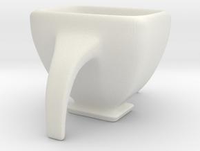 Espresso Quadrilup in White Natural Versatile Plastic