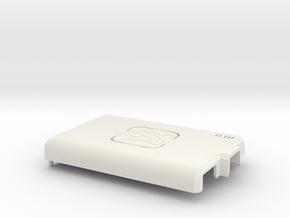 Raspberry Pi CASE 1.0 - TOP in White Natural Versatile Plastic