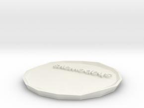 SHAPEWAYS PLATE variant 4 in White Natural Versatile Plastic