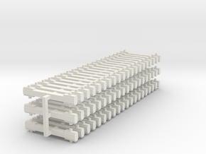 NEM bars 60x5mm in White Natural Versatile Plastic