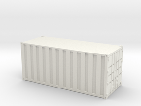 20ft Container Ribbed, (NZ120 / TT, 1:120) in White Natural Versatile Plastic