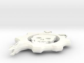 Gears Gear From Gears Of War in White Processed Versatile Plastic