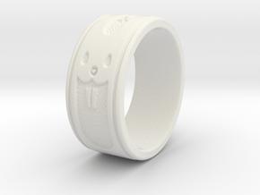 ring5 in White Natural Versatile Plastic