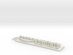 Technosphere 3D in White Natural Versatile Plastic