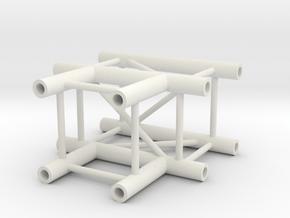 Square truss T piece 1:10 in White Natural Versatile Plastic