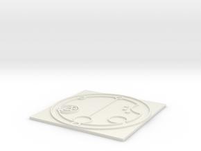 Raised Nameplate in White Natural Versatile Plastic