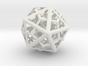Plato's Universe in White Natural Versatile Plastic