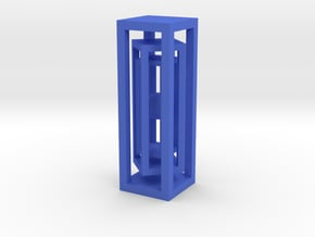 Miniature ball in three cages in Blue Processed Versatile Plastic