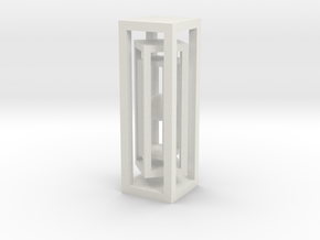 Ball in three cages in White Natural Versatile Plastic