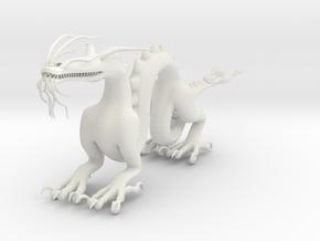 "6"" Chinese Dragon Pose1 in White Natural Versatile Plastic"