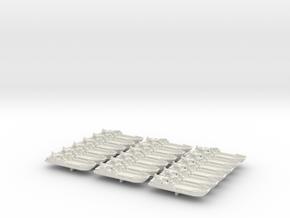 1/1200 LCT Mk6 (x18) in White Natural Versatile Plastic