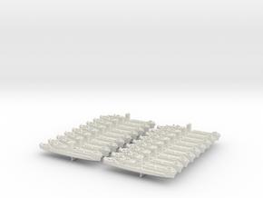 1/1200 LCI(L) (Square Bridge-Side Ramps) (x18) in White Natural Versatile Plastic