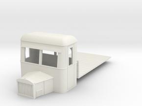 On16.5 Railbus flatbed freight  in White Natural Versatile Plastic