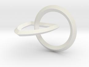 Interlocking Seals — Medium in White Natural Versatile Plastic