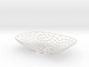 Exoskeletal Bowl 002 in White Natural Versatile Plastic