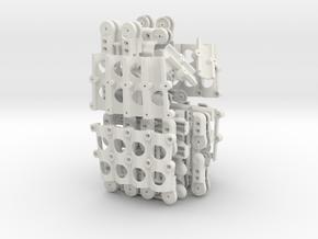 Mk1.1 Both Hands in White Natural Versatile Plastic