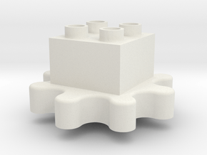 Gears! Gears! Gears! to Duplo uck 02f00m in White Natural Versatile Plastic
