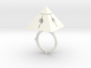 Pyramids Core Fusion in White Processed Versatile Plastic