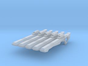 Compression Rifle 001a (x5) in Smooth Fine Detail Plastic