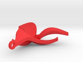Flower pendant in Red Processed Versatile Plastic
