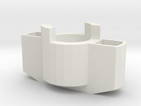 Manopola in White Natural Versatile Plastic