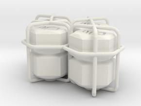 4x hex nuts tire valve cap in White Natural Versatile Plastic
